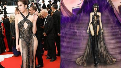 Chiếc đầm hở bạo của Ngọc Trinh trở thành cảm hứng cho trang phục nhân vật truyện tranh nước ngoài