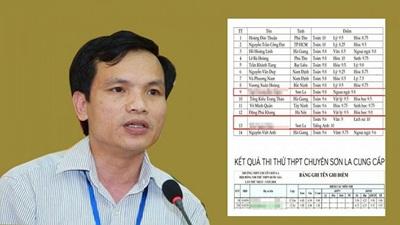 Lãnh đạo Cục nói gì về nghi vấn điểm thi bất thường ở Sơn La?