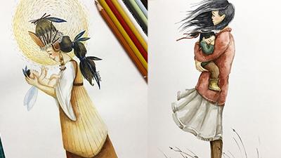Sau bộ tranh'Bố và con gái', nữ họa sĩ tiếp tục gây bão với 'Mẹ và con gái'