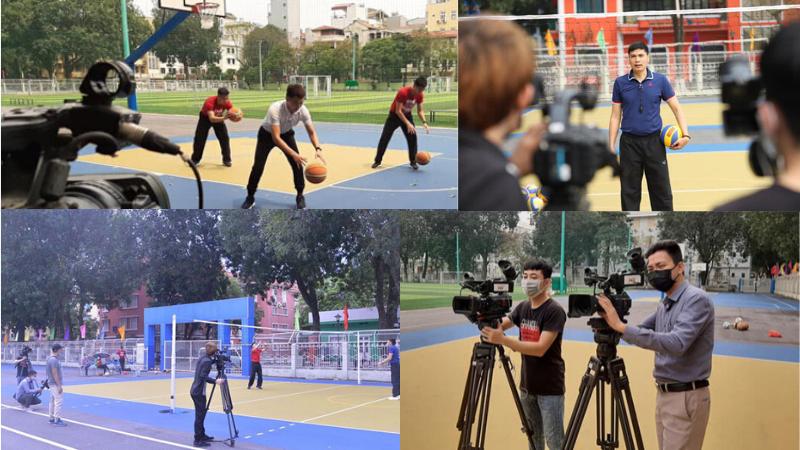 Đúng là trường nhà người ta có khác, học thể dục online thôi mà đầu tư máy quay chuyên nghiệp như thực hiện MV
