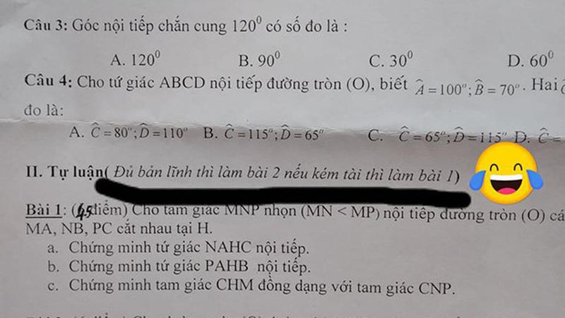 Lời chú thích của giáo viên trong bài kiểm tra khiến học sinh nào cũng thấy 'nhột'