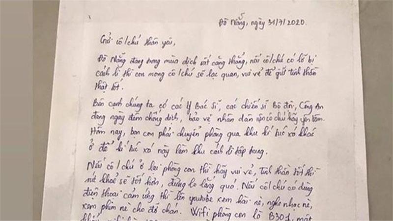 Dễ thương như nữ sinh Đà Nẵng, không chỉ nhường ký túc xá làm phòng cách ly còn để lại bức thư cùng món quà đáng yêu dành cho người lạ