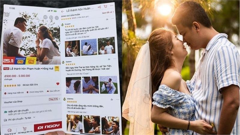 Yêu nhau qua ứng dụng mua sắm, cặp đôi thiết kế thiệp cưới rao bán lễ thành hôn thu hút hàng chục nghìn like