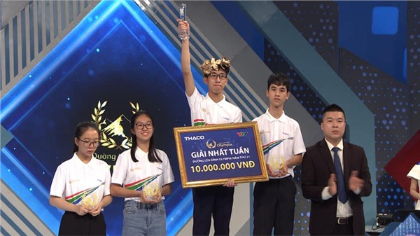 Nam sinh Lâm Đồng là thí sinh giành được Vòng Nguyệt quế trong tuần đầu tiên của tháng 3
