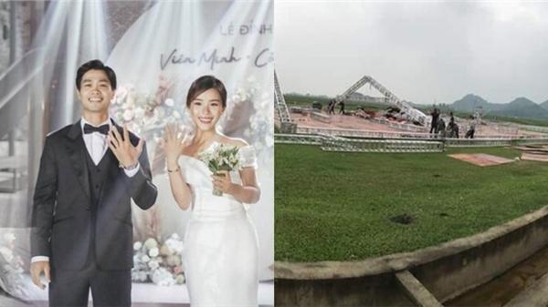 Những hình ảnh đầu tiên của đám cưới Công Phượng tại quê nhà: Liệu có phải hôn lễ 'khủng' nhất Nghệ An?
