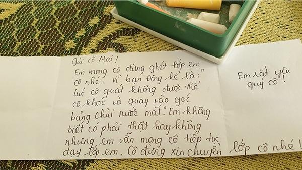 Cô giáo bất lực vì cả lớp quá nghịch ngợm, định xin chuyển lớp thì nhận được bức thư ấm lòng của học trò