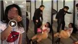 Giật chồng người khác còn buông lời thách thức, cô gái trẻ bị đánh chảy máu mồm, lột đồ giữa phố