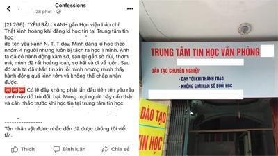 Bị học viên tố quấy rối tình dục, chủ Trung tâm tin học ở Hà Nội khẳng định: 'Có người lập nick giả hại tôi'