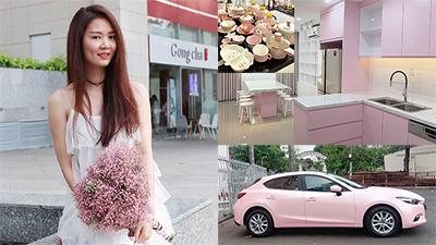 Cô gái 31 tuổi 'nhịn yêu' dành tiền mua nhà lầu, xe hơi toàn màu hồng để phục vụ sở thích