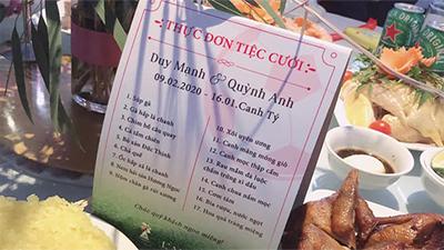 Thực đơn cỗ cưới Duy Mạnh: 17 món, gà - cá - chim - hải sản đủ cả, khách đến ăn khéo phải 'mang bao tải' đựng về