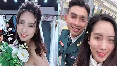 Đám cưới mùa COVID-19: Chú rể ở lại đơn vị làm nhiệm vụ chống dịch, cô dâu một mình cử hành hôn lễ