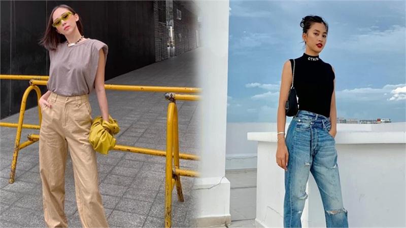 Hoa hậu Tiểu Vy, Tóc Tiên lên đồ 'chất ngất' với áo tank top vào những ngày cuối hè