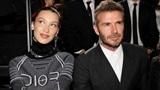 Sợ bà xã Victoria ghen, David Beckham đành tỏ ra vô cảm khi ngồi cạnhBella Hadid?