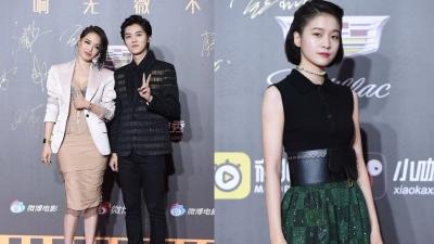 Thảm đỏ đêm hội Weibo: Bỏ rơi bạn gái ở nhà, Lộc Hàm tay trong tay cùng đàn chị