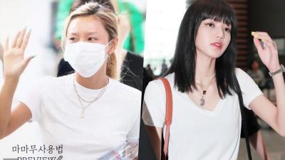 Cùng khoe dáng với áo thun trắng, Lisa được khen nền nã giản dị, Hwasa phản cảm với style no-bra