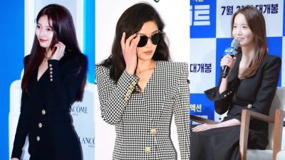 Vóc dáng bốc lửa đến mấy thì khi đụng hàng với Yoona và Jun Ji Hyun, Suzy vẫn đành chịu lép vế
