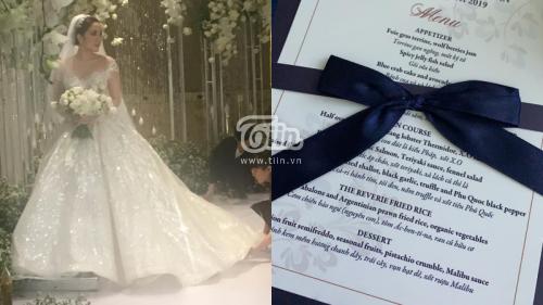 Thực đơn trong đám cưới 6 sao của Bảo Thy: Toàn đồ nhập khẩu đắt tiền, không hổ danh 'đại gia showbiz'