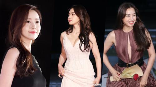 Thảm đỏ Rồng Xanh 2019: Yoona, Honey Lee bị mỹ nhân ngực khủng tranh 'spotlight'