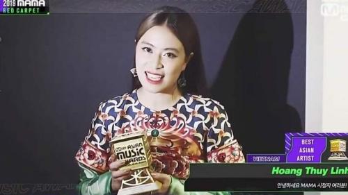 Hoàng Thùy Linh nhận giải Nghệ sĩ Việt Nam xuất sắc nhất châu Á tại MAMA 2019