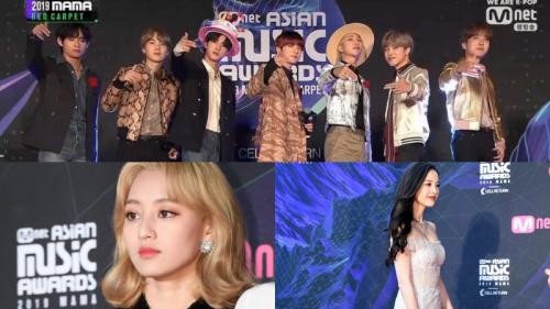 Thảm đỏ MAMA 2019:  BTS mặc đồ 'chẳng ai giống ai', Jihyo (TWICE) né tránh ống kính sau tin đồn chia tay