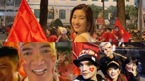 Đàm Vĩnh Hưng, Đỗ Mỹ Linh, Tiểu Vy cùng loạt sao Việt nô nức đi bão ăn mừng U22 Việt Nam vô địch