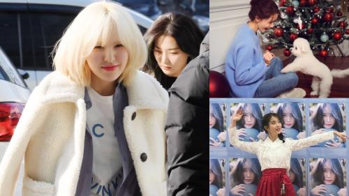 Sao Hàn mặc gì ngày giáng sinh: Wendy đẹp như tiên tử ngày đông, Yoona - IU lại cực giản dị