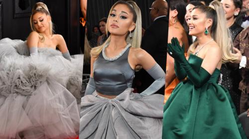 Ariana Grande mang trang sức 243 tỷ đến Grammy, thay liền tù tì 3 chiếc váy vì 'không biết chọn cái nào nên mặc hết'