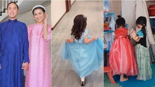 'Tiểu công chúa của Vbiz' đích thị là con gái Hà Tăng khi được mẹ sắm cho cả loạt váy bồng xòe cổ tích
