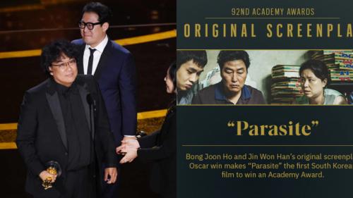 'Ký sinh trùng' thắng giải Kịch bản xuất sắc, Bong Joon Ho nhấn mạnh đây chính là giải Oscar đầu tiên của Hàn Quốc