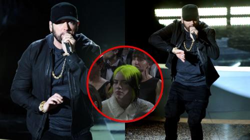 Eminem xuất hiện bất ngờ tại Oscar: Dàn diễn viên 'dẩy đầm' nhiệt không thua fangirl, Billie Eilish lộ biểu cảm khó hiểu