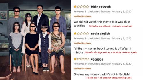 Người Mỹ ồ ạt xem 'Ký sinh trùng' hậu Oscar và đòi hoàn tiền, chấm 1 sao