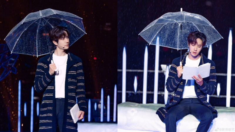 Vương Nhất Bác cầm ô đứng dưới mưa lao thẳng lên Hot Search, sức mạnh của trai đẹp quá 'khủng'
