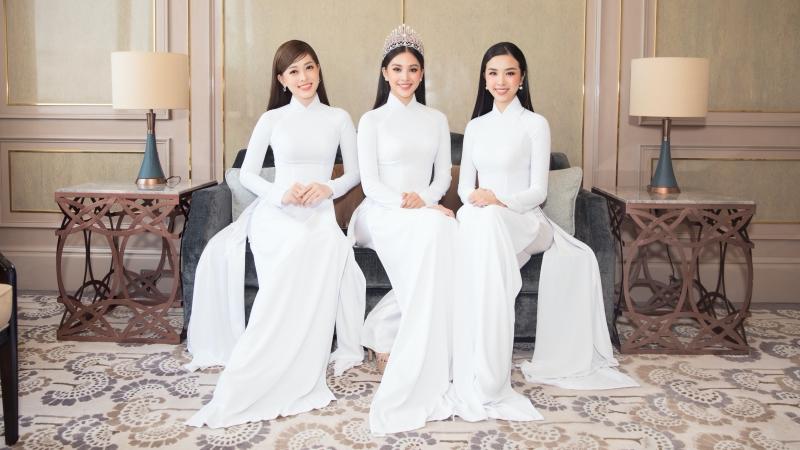 Cùng diện áo dài trắng, nàng hậu nào nổi bật nhất họp báo Hoa hậu Việt Nam 2020?