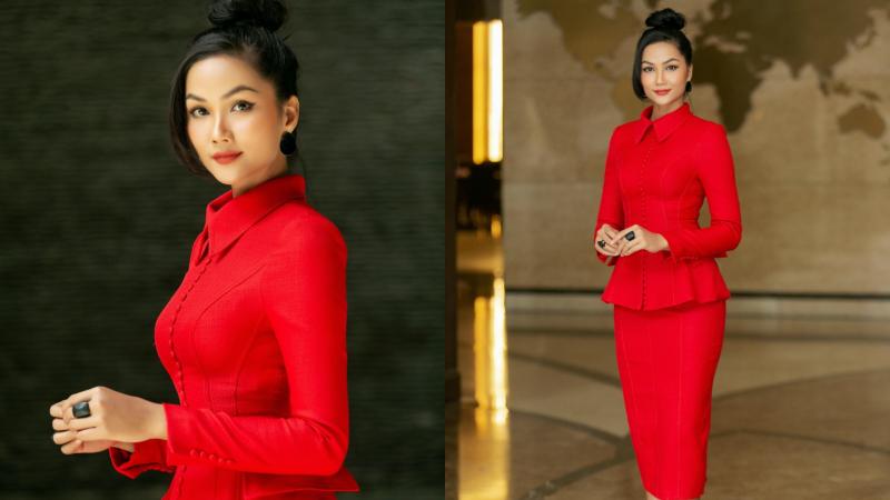 Hoa hậu H'Hen Niê không ngại gam màu rực rỡ, khoe vóc dáng cực chuẩn tại Nghệ An