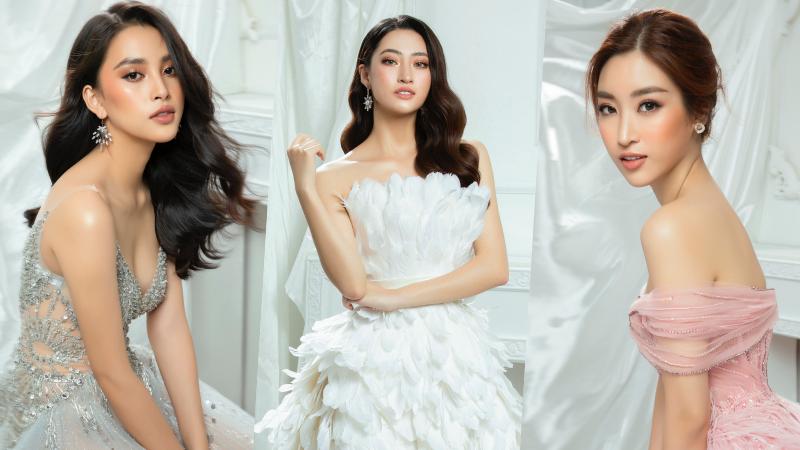 Tiểu Vy, Đỗ Mỹ Linh, Lương Thùy Linh 'đọ' vương miện trong bộ ảnh mới