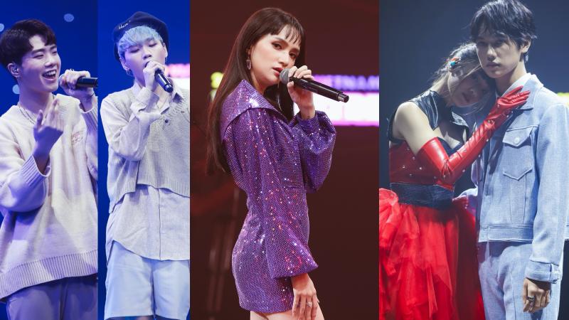 D1verse lần đầu biểu diễn live ca khúc debut với 4 thành viên, Hoàng Yến Chibi - JSol 'tình tứ' trên sân khấu