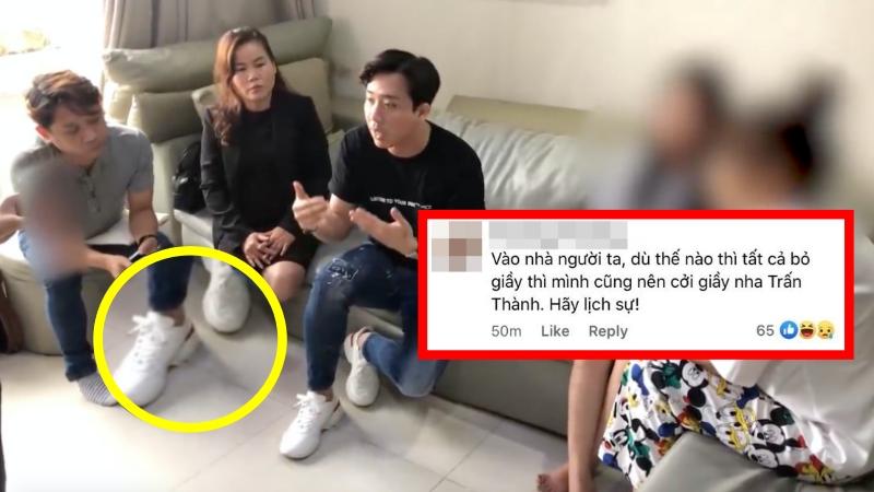 Trấn Thành bị cư dân mạng ý kiến vì không cởi giày trong clip 'làm việc' với người tung tin đồn