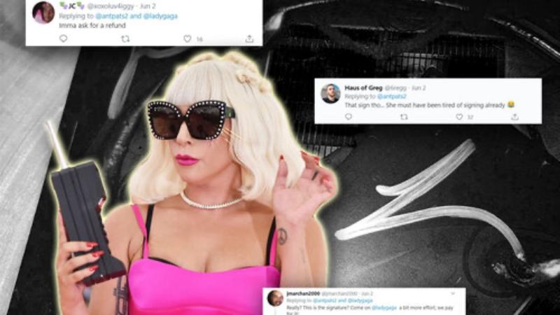 Lady Gaga tặng chữ ký nguệch ngoạc, cộng đồng fan kêu ca: 'Bỏ mớ tiền và đây là kết quả chúng tôi nhận lại sao?'