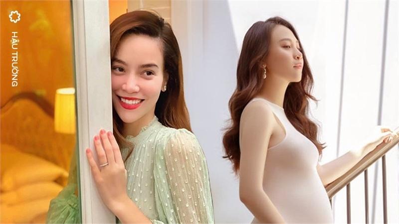 Sự khác biệt giữa Hồ Ngọc Hà và Đàm Thu Trang khi mang thai: Người công khai khoe bụng bầu viên mãn, người lại khép nép che chắn chờ 'ngày đẹp'