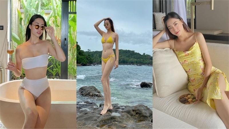 Hoa Hậu Lương Thùy Linh khoe body gợi cảm và đôi chân dài 1m22 cực phẩm với bikini