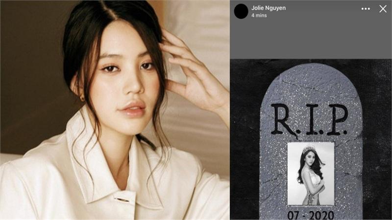 Jolie Nguyễn đăng ảnh 'R.I.P' nửa đêm, còn 'thay đen' toàn bộ tài khoản mạng, chuyện gì đang xảy ra đây?