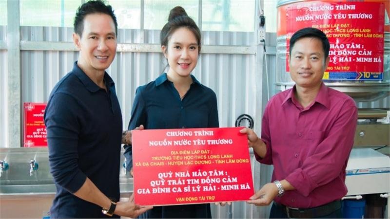 Lý Hải - Minh Hà kêu gọi quyên góp, trực tiếp lên vùng cao lắp đặt máy lọc nước cho người dân