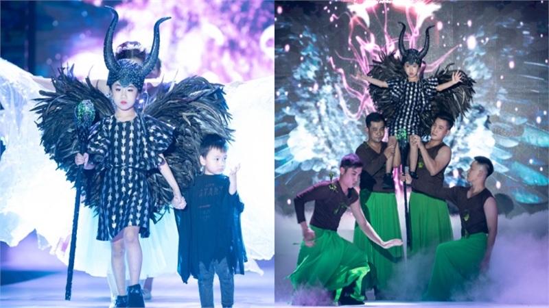 Maleficent phiên bản mẫu nhí Việt Alice Nguyễn gây sốt trong show thời trang Cổ tích hiện đại