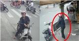 Nam thanh niên dừng xe máy, lao vào vỉa hè bê trộm cái bàn phơi khăn khiến tất cả ngao ngán