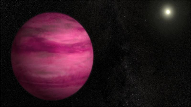 Phát hiện hành tinh có màu hồng kỳ lạ như viên kẹo khổng lồ ngoài vũ trụ