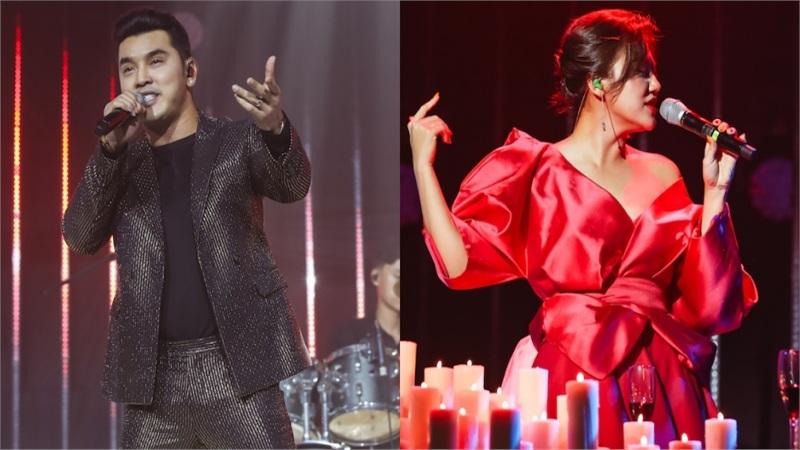 Ưng Hoàng Phúc tái hiện hit cũ, Văn Mai Hương đem cả MV 'Đốt' lên sân khấu