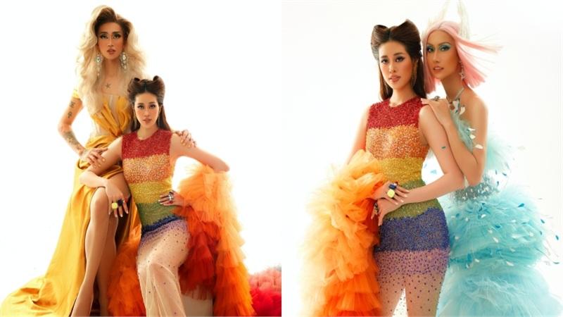 Hoa hậu Khánh Vân hóa thân thành Drag Queen, đọ sắc cực 'gắt' với BB Trần, Hải Triều và Lynk Lee