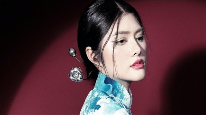 Lấy cảm hứng Á đông, Hoa hậu Huỳnh Tiên cuốn hút với vẻ đẹp không tỳ vết