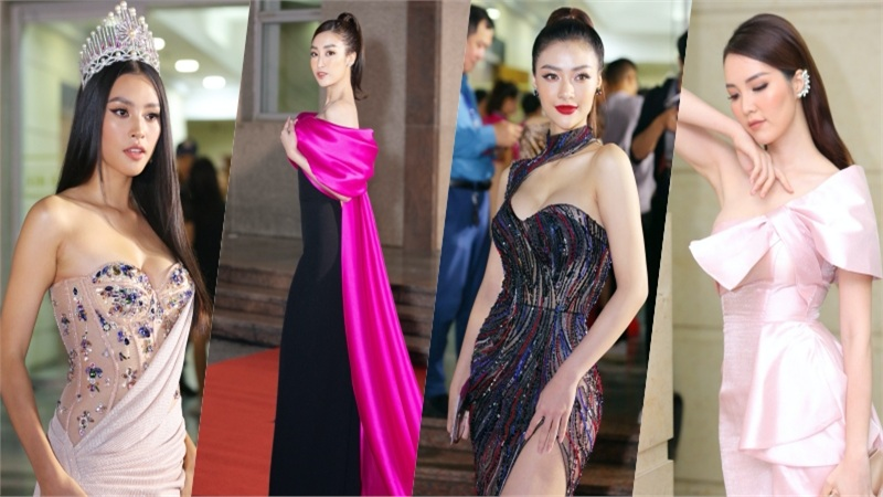 Bán kết Hoa hậu Việt Nam 2020: Tiểu Vy 'o ép' vòng 1, 'đại chiến' khoe đường cong với Á hậu 'King Of Rap'