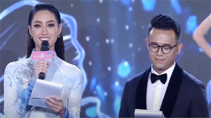 Hoa hậu Lương Thùy Linh liên tục nói vấp khi làm MC tại bán kết Hoa hậu Việt Nam 2020
